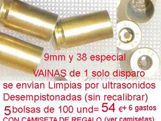 vainas 9mm -38spcial