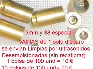 vainas para recarga de municion