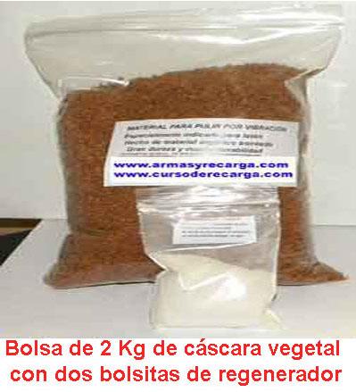 Granulado vegetal para limpiavainas