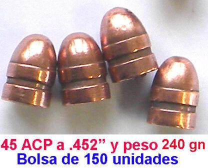 OFERTA DE PUNTAS 45 ACp cobrizadas