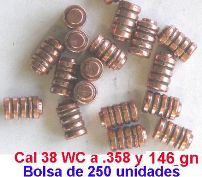 proyectiles recarga 38 - Puntas recarga 38 -wc