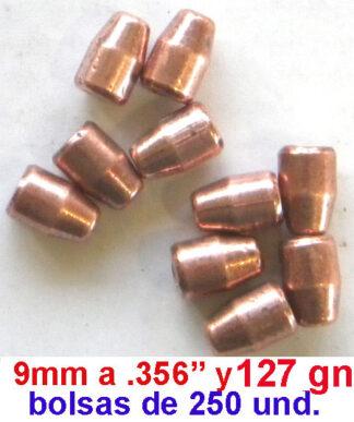 Puntas recarga - proyectiles recarga 9mm